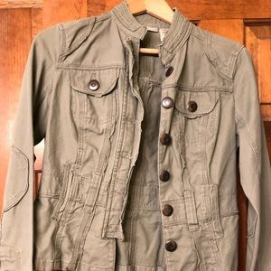 Women's Army Green Casual Jacket